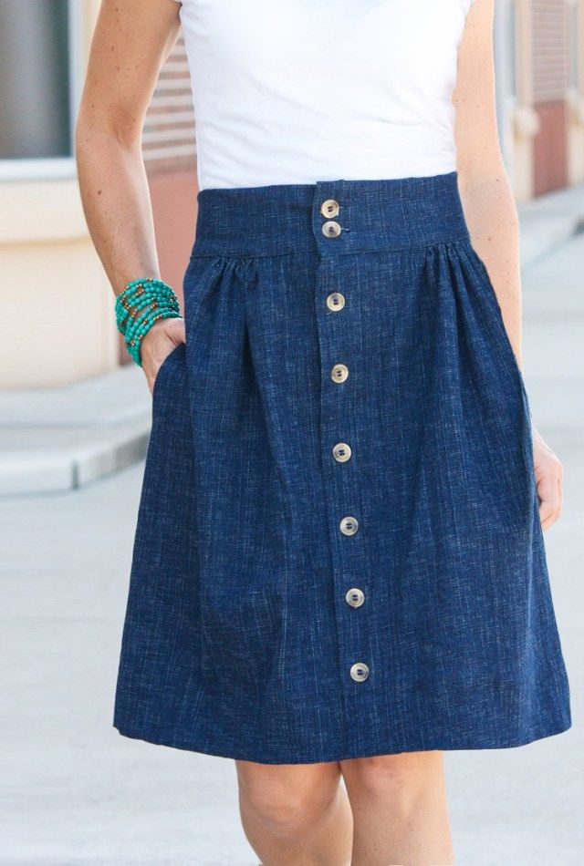 button down skirt tutorial