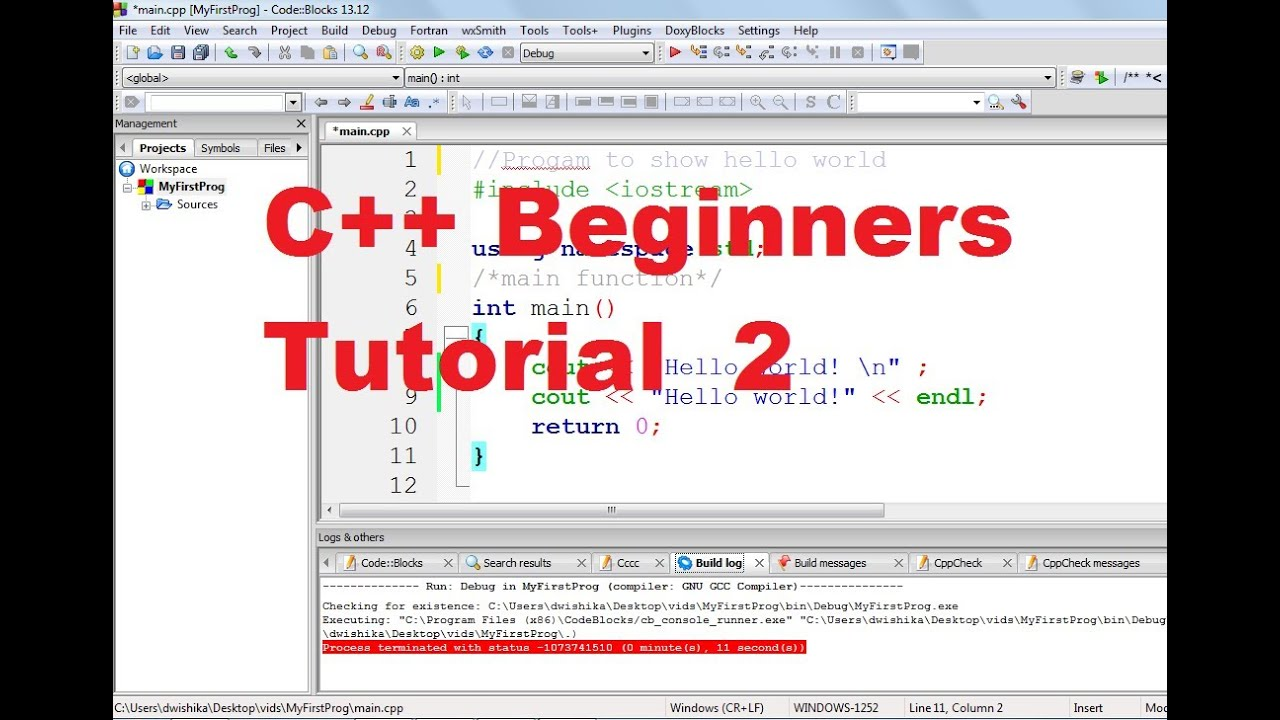 c programming tutorial video