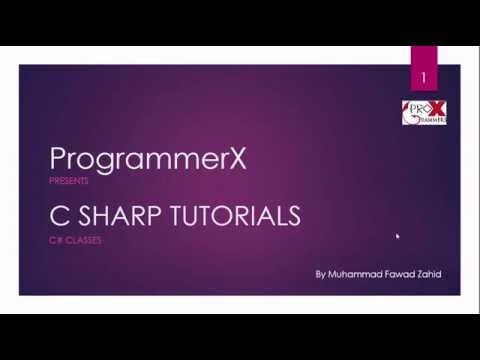 c sharp classes tutorial