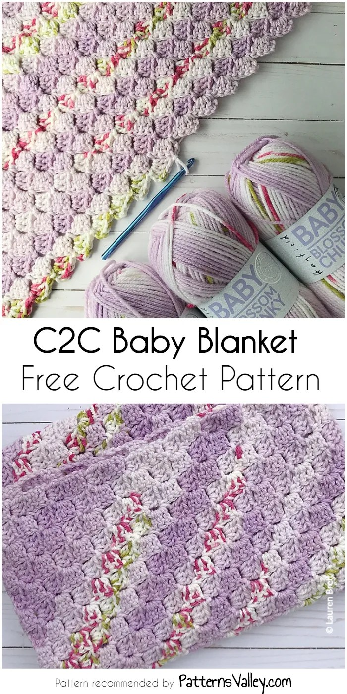 c2c baby blanket tutorial