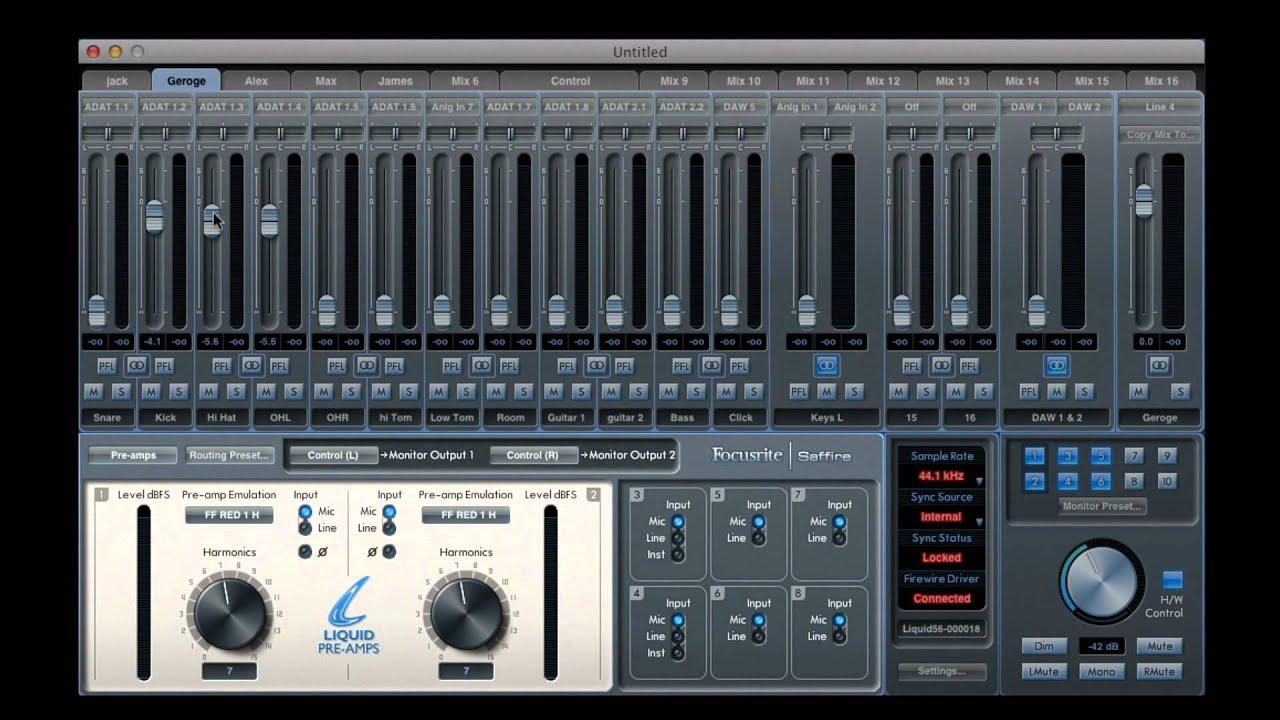 saffire mix control tutorial