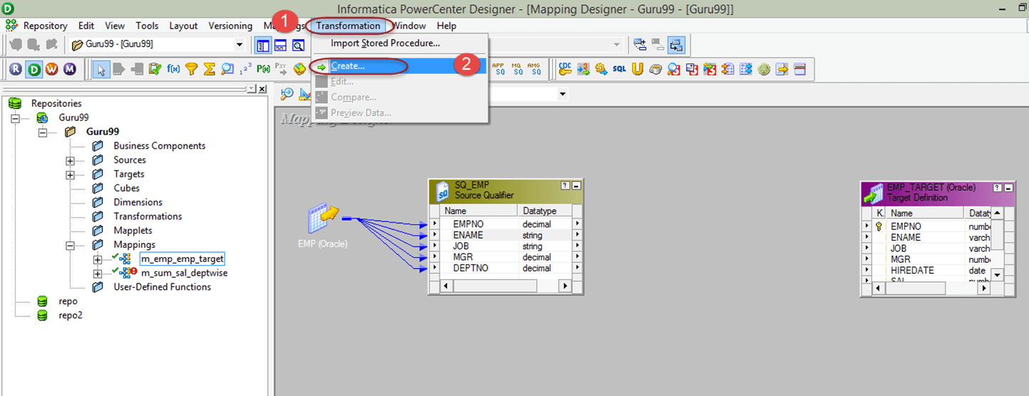 informatica transformations step by step tutorial