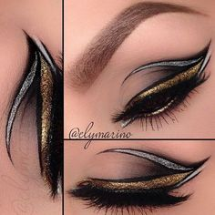 gold and silver eyeshadow tutorial