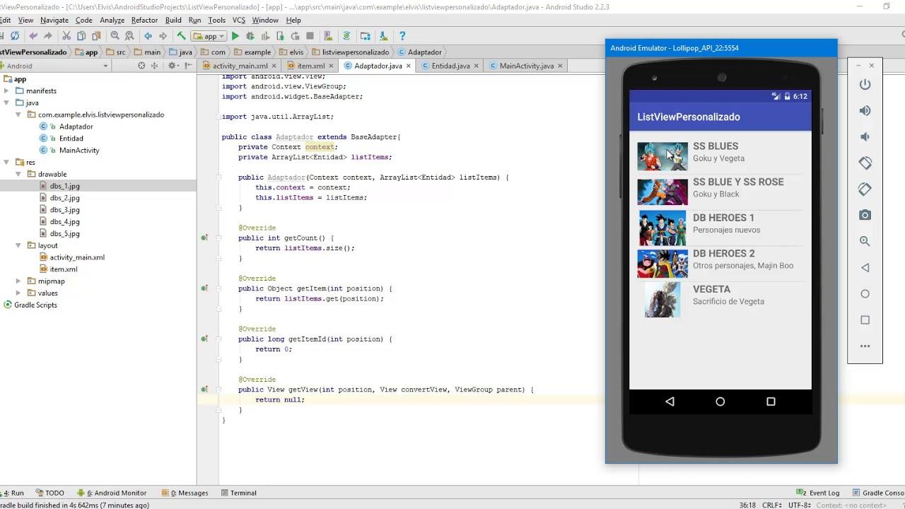android studio listview tutorial