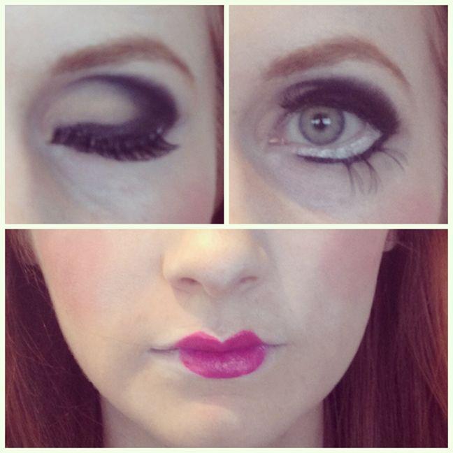 halloween doll makeup tutorial