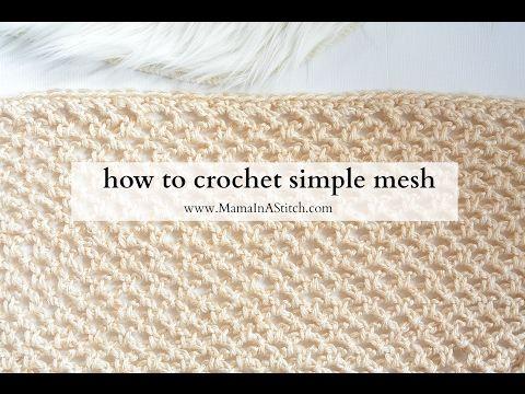 crochet mesh stitch tutorial