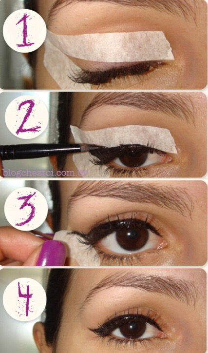 cat eyeliner stencil tutorial