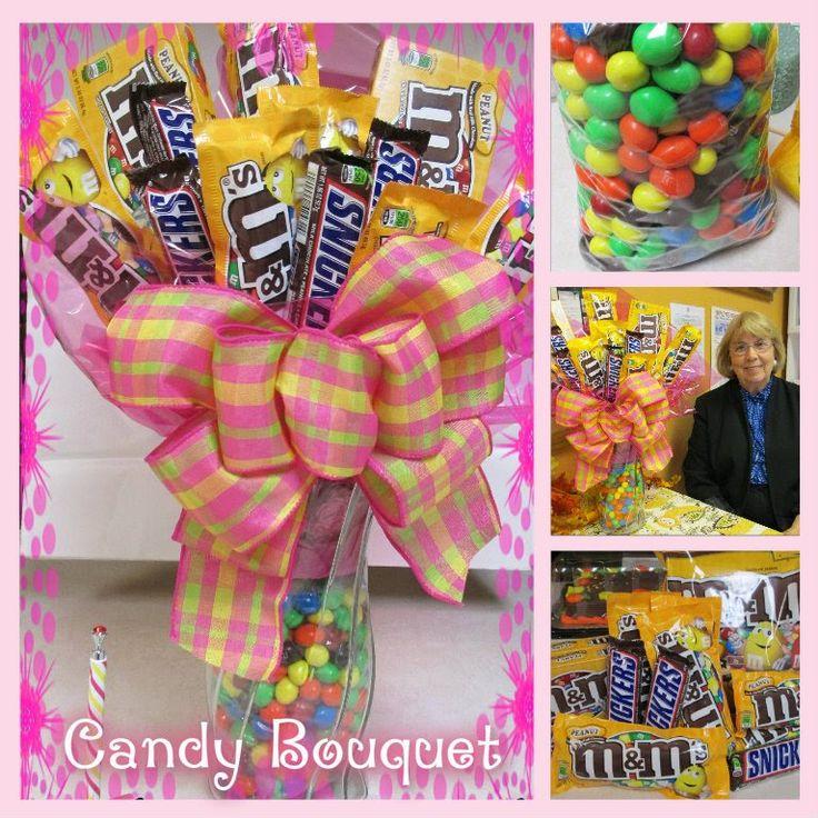 candy bar bouquet tutorial