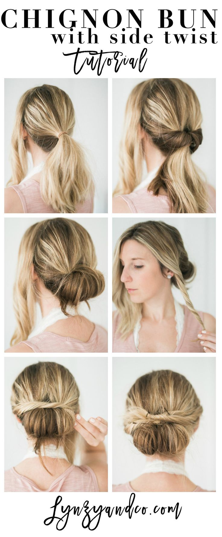 bun tutorial long hair