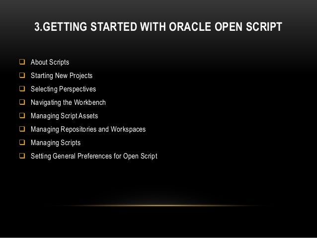 oracle application testing suite openscript tutorial