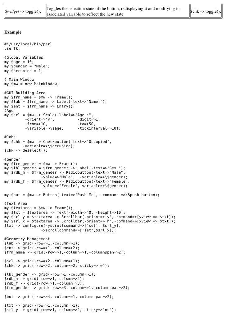 perl tk tutorial pdf