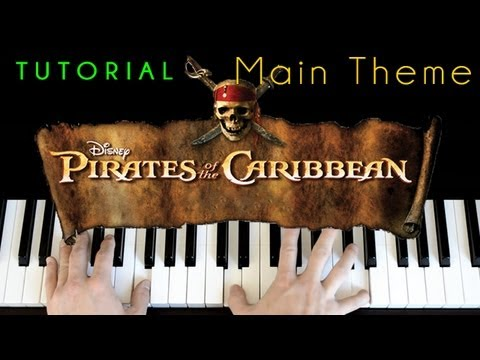 pirates of the caribbean main theme piano tutorial