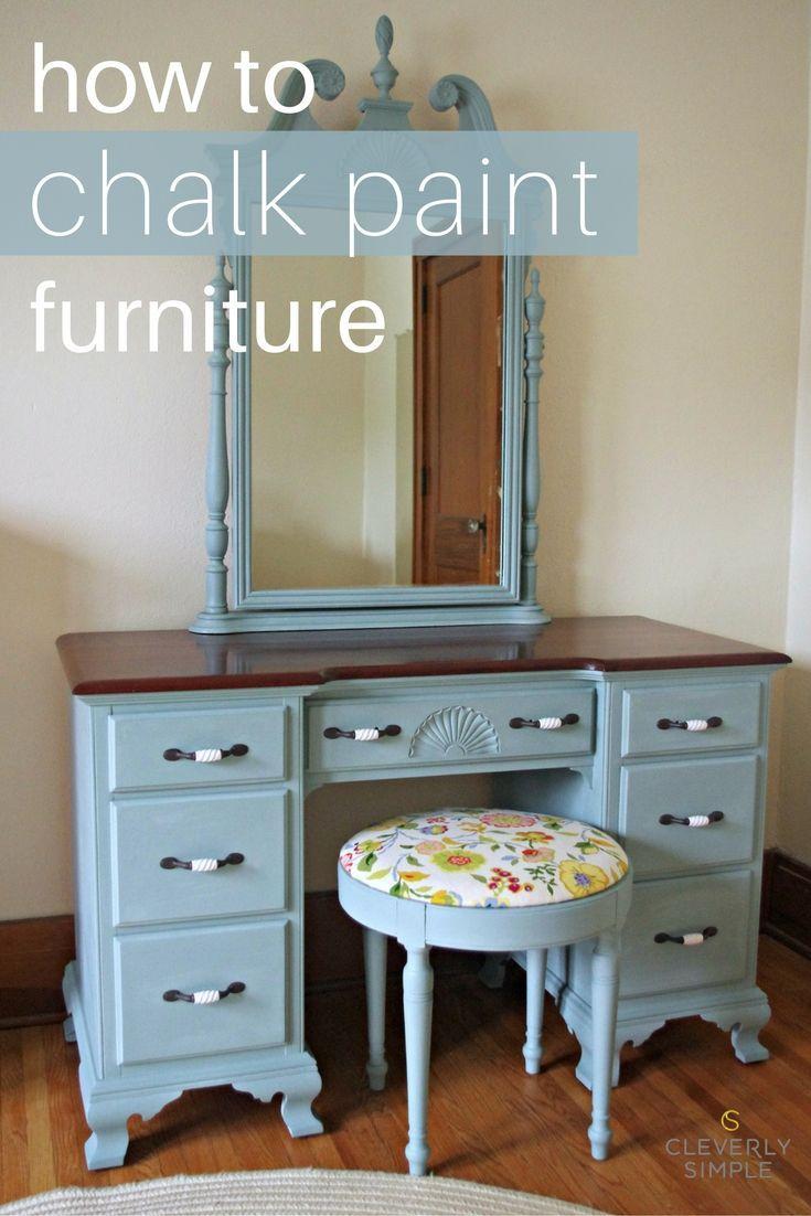chalk paint dresser tutorial