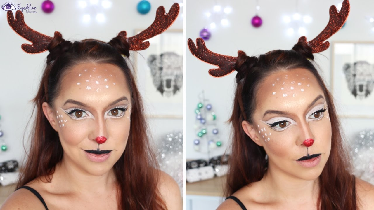 christmas makeup tutorial 2016