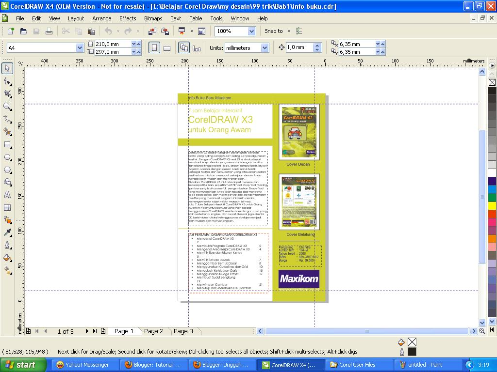 corel draw web design tutorial pdf