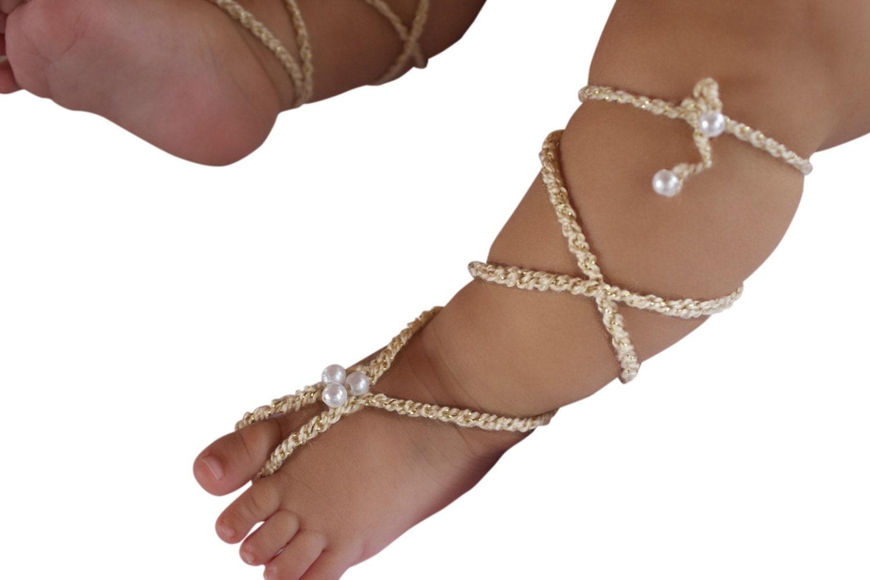 crochet baby barefoot sandals tutorial