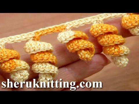 crochet spiral flower tutorial