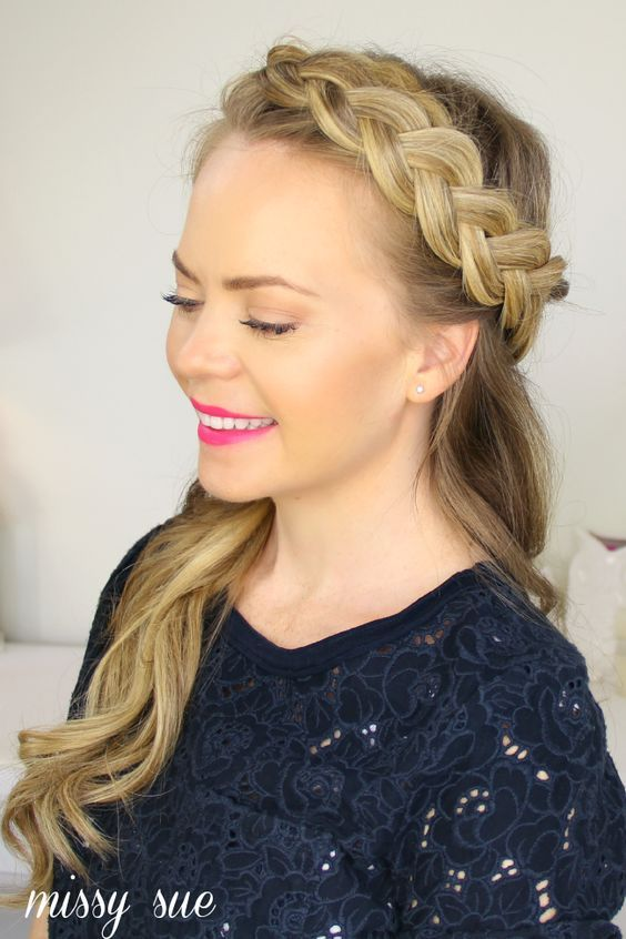 crown braid tutorial long hair