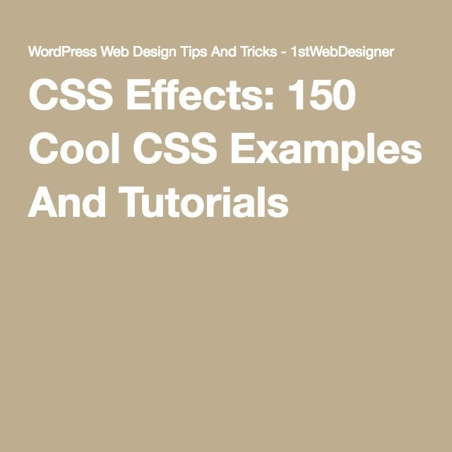 css website design tutorial