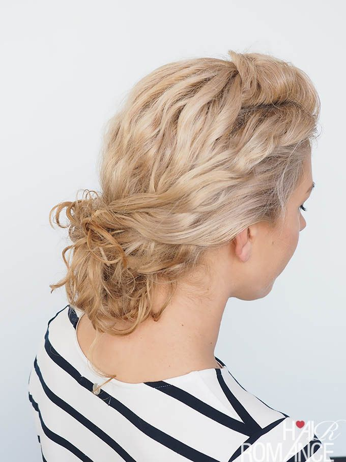 curly hair bun tutorial