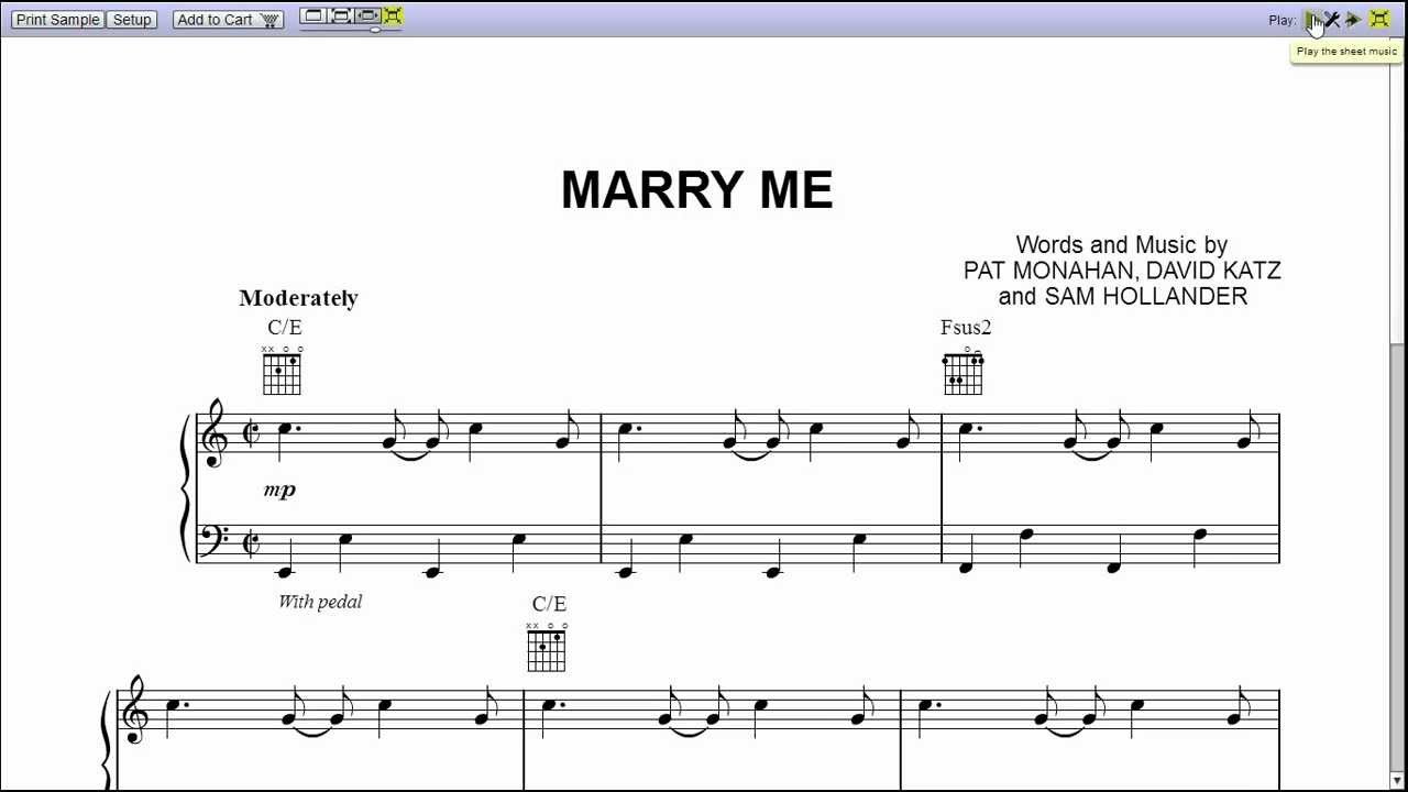 marry me train piano tutorial