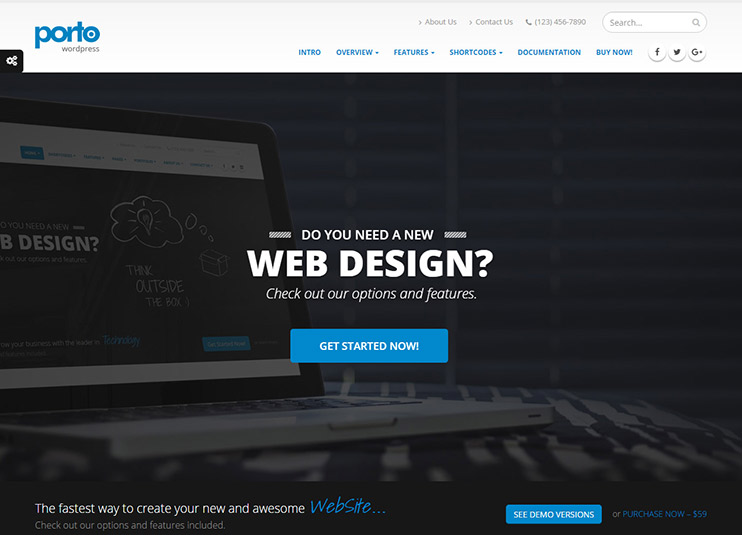 porto wordpress theme tutorial