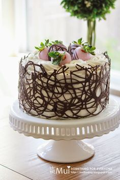 chocolate cage cake tutorial