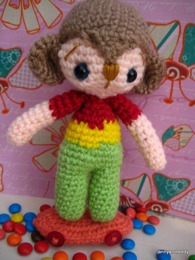 crochet sock monkey hat tutorial