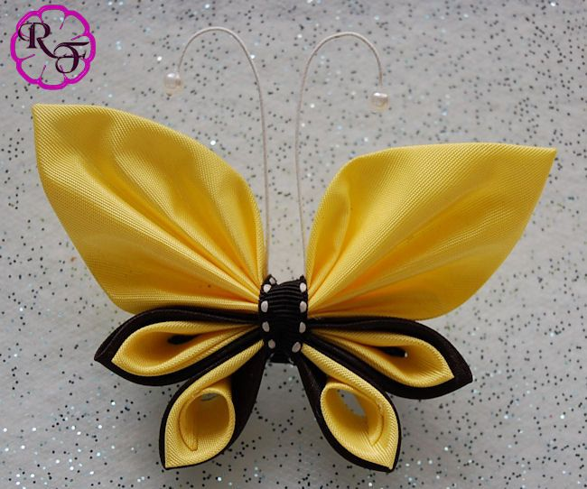 kanzashi butterfly tutorial free