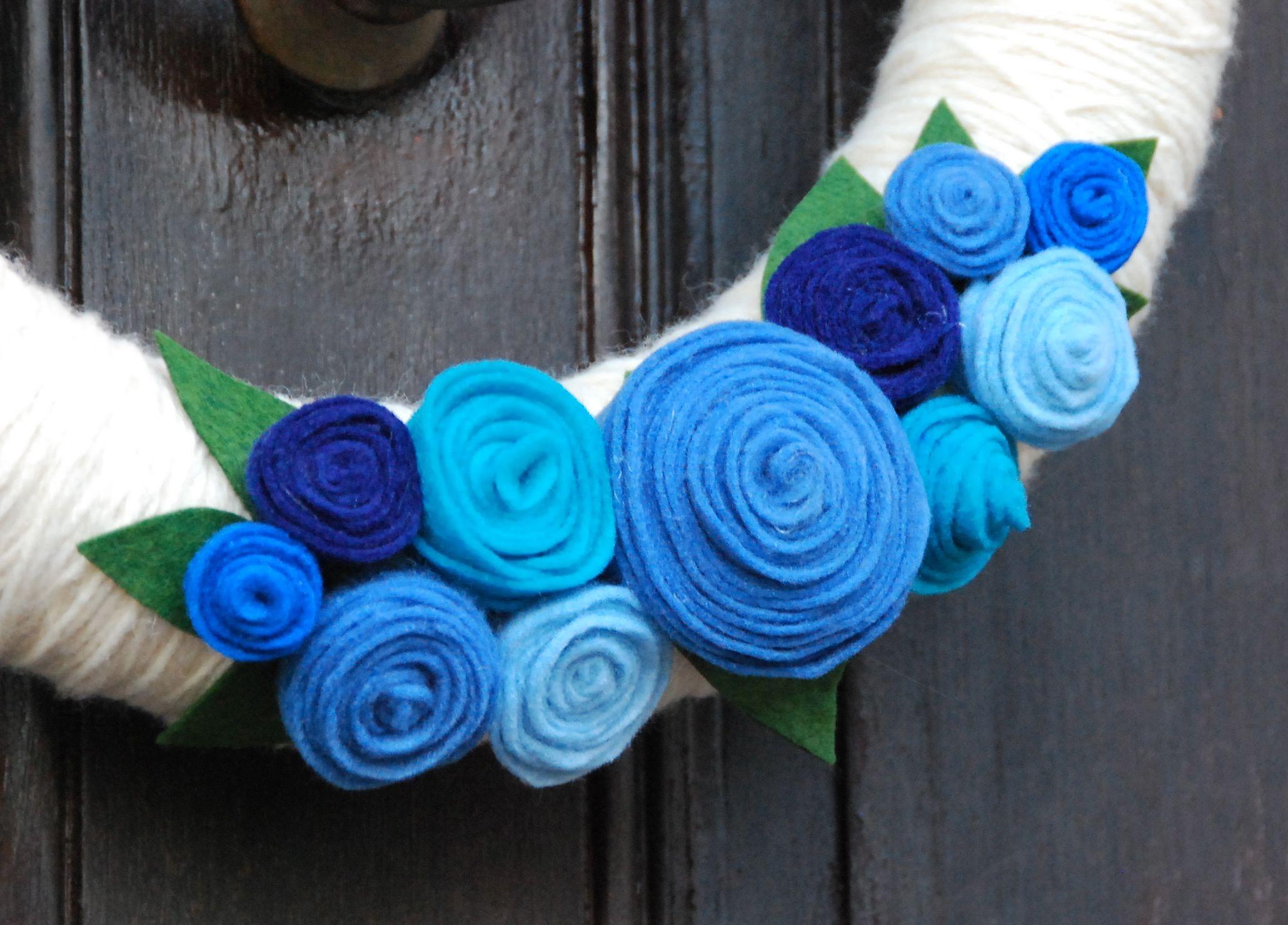 felt flower wreath tutorial