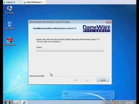 dameware mini remote control tutorial