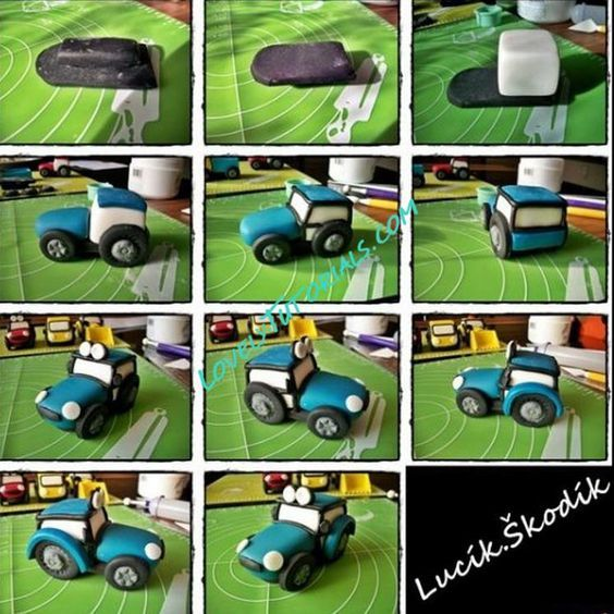 tractor cake topper tutorial