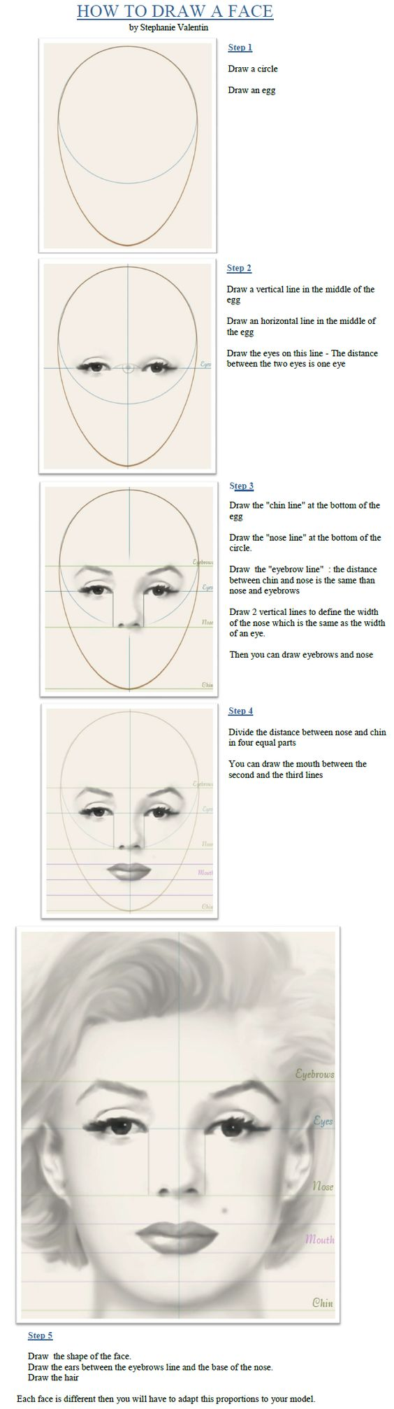 marilyn monroe drawing tutorial