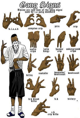 blood gang sign tutorial