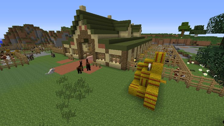 minecraft horse stable tutorial