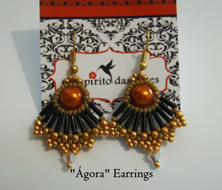 bugle bead earrings tutorial