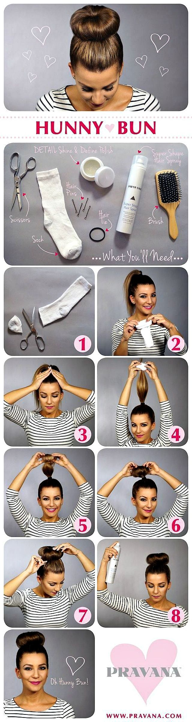 donut hair bun tutorial