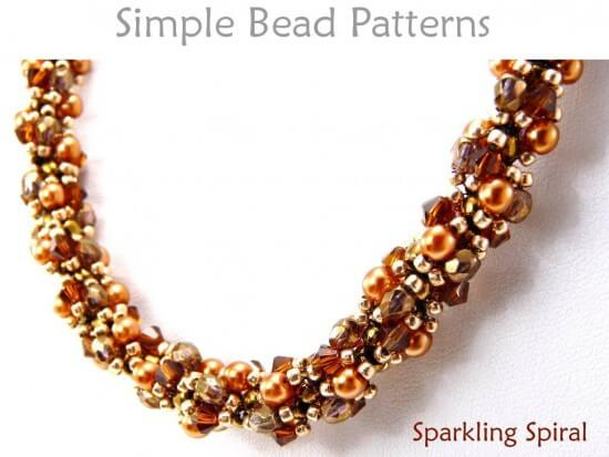 double spiral beading tutorial