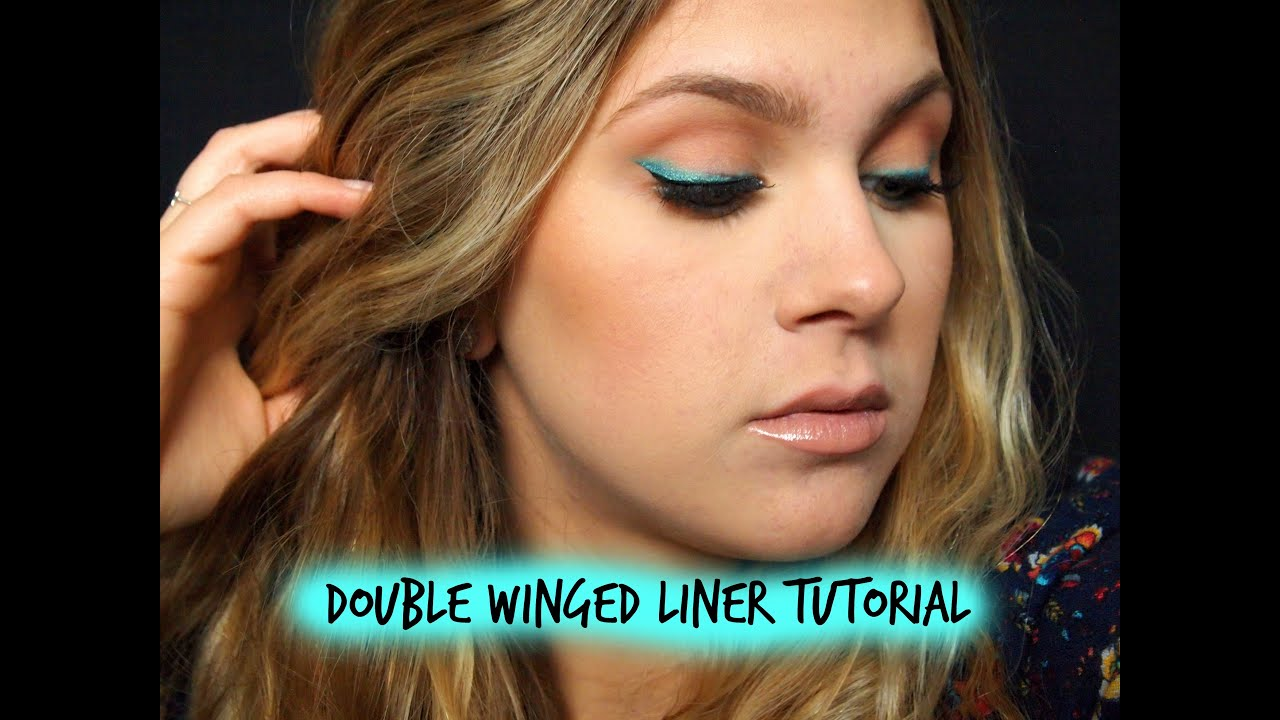 double winged eyeliner tutorial