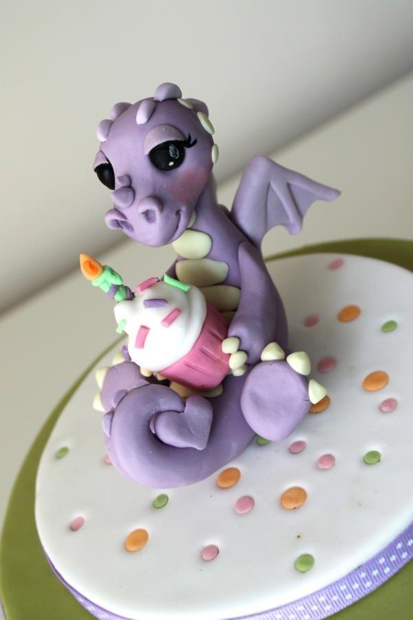 dragon cake topper tutorial