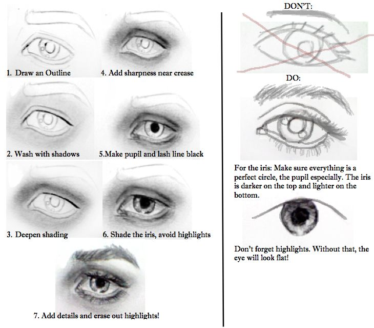 drawing in eyebrows tutorial
