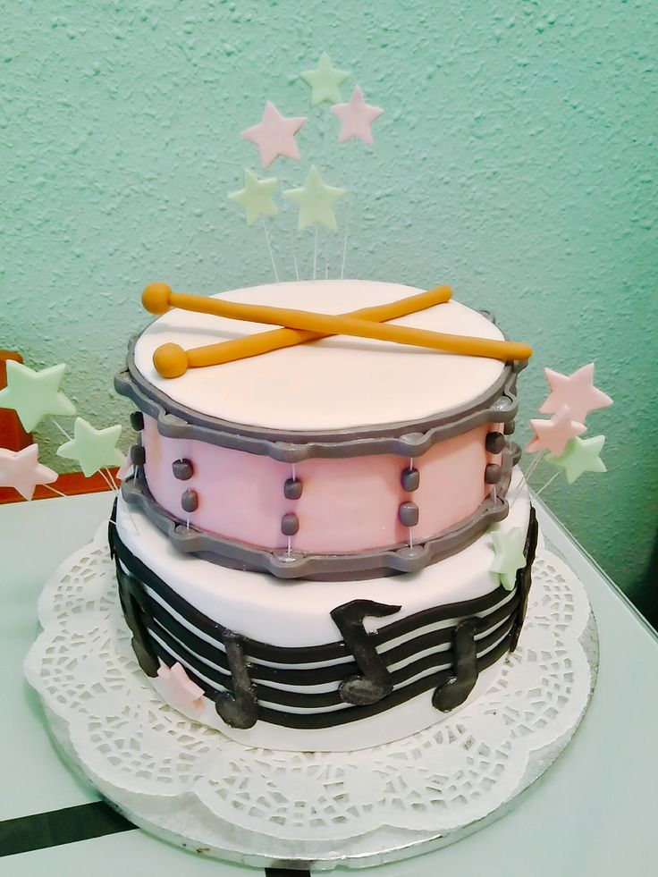 drum set cake tutorial
