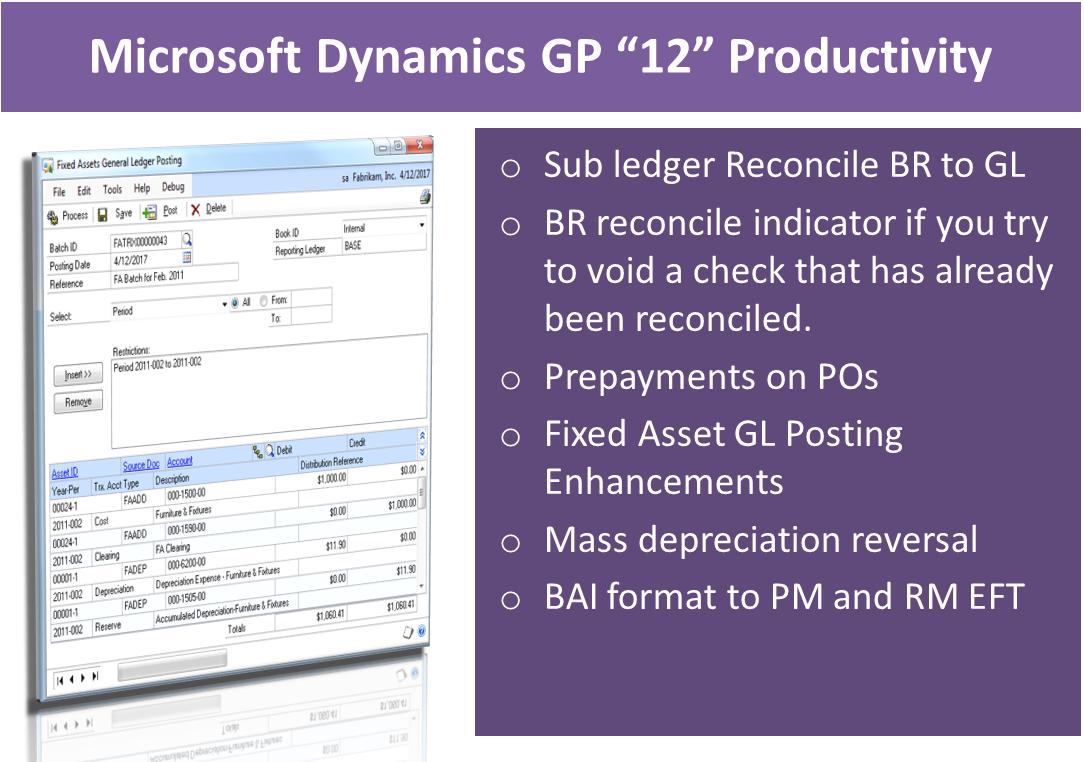 dynamics gp bank reconciliation tutorial