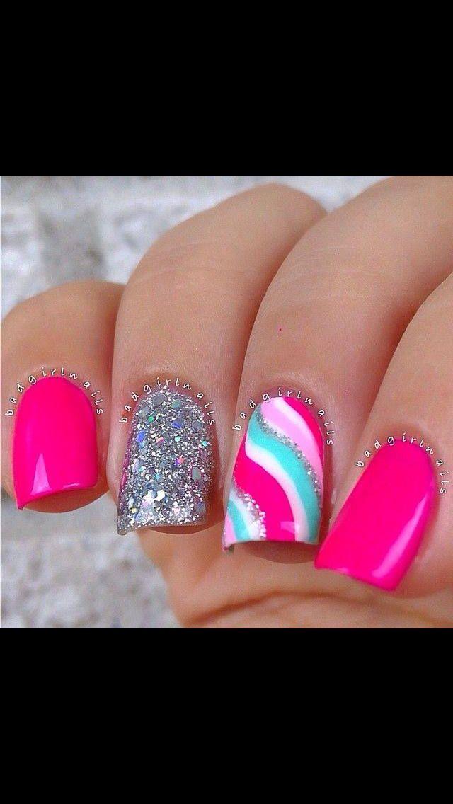 swirl nail art tutorial