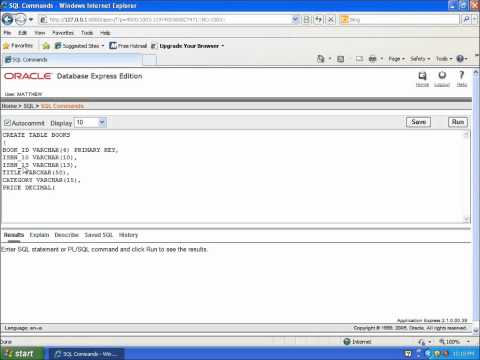 oracle sql developer tutorial point