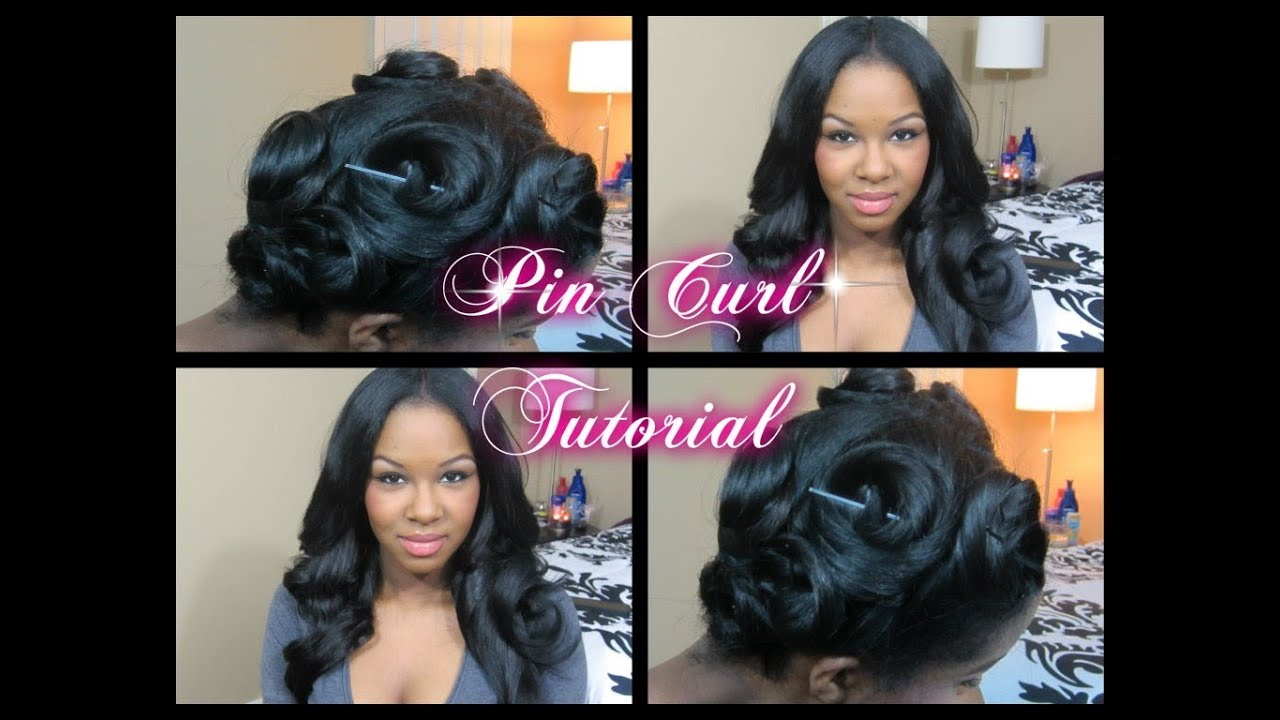 pin curl tutorial long hair