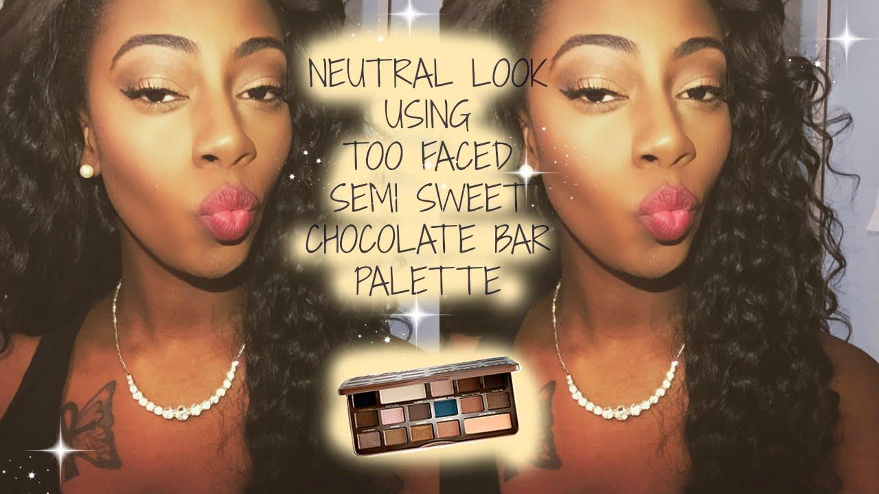 semi sweet chocolate bar palette tutorial