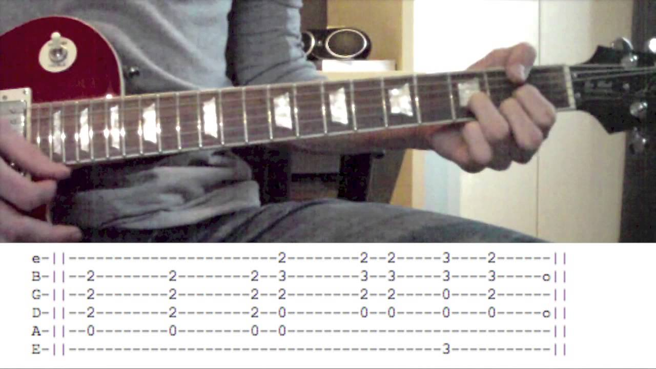 life is a highway guitar tutorial