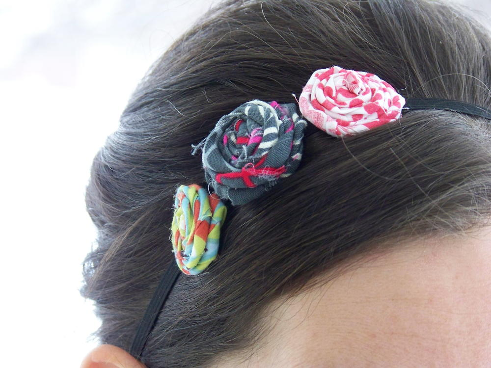 fabric flower headband tutorial