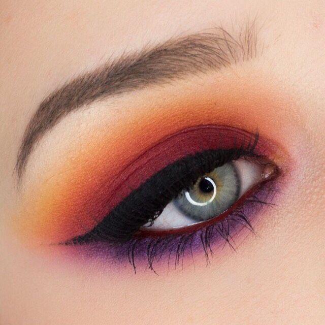 red and black eyeshadow tutorial